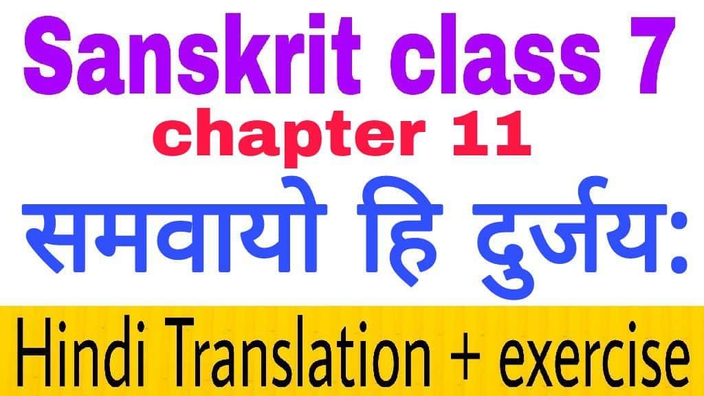 Class 7 sanskrit chapter 11 - hindi translation + NCERT Exercise solution
