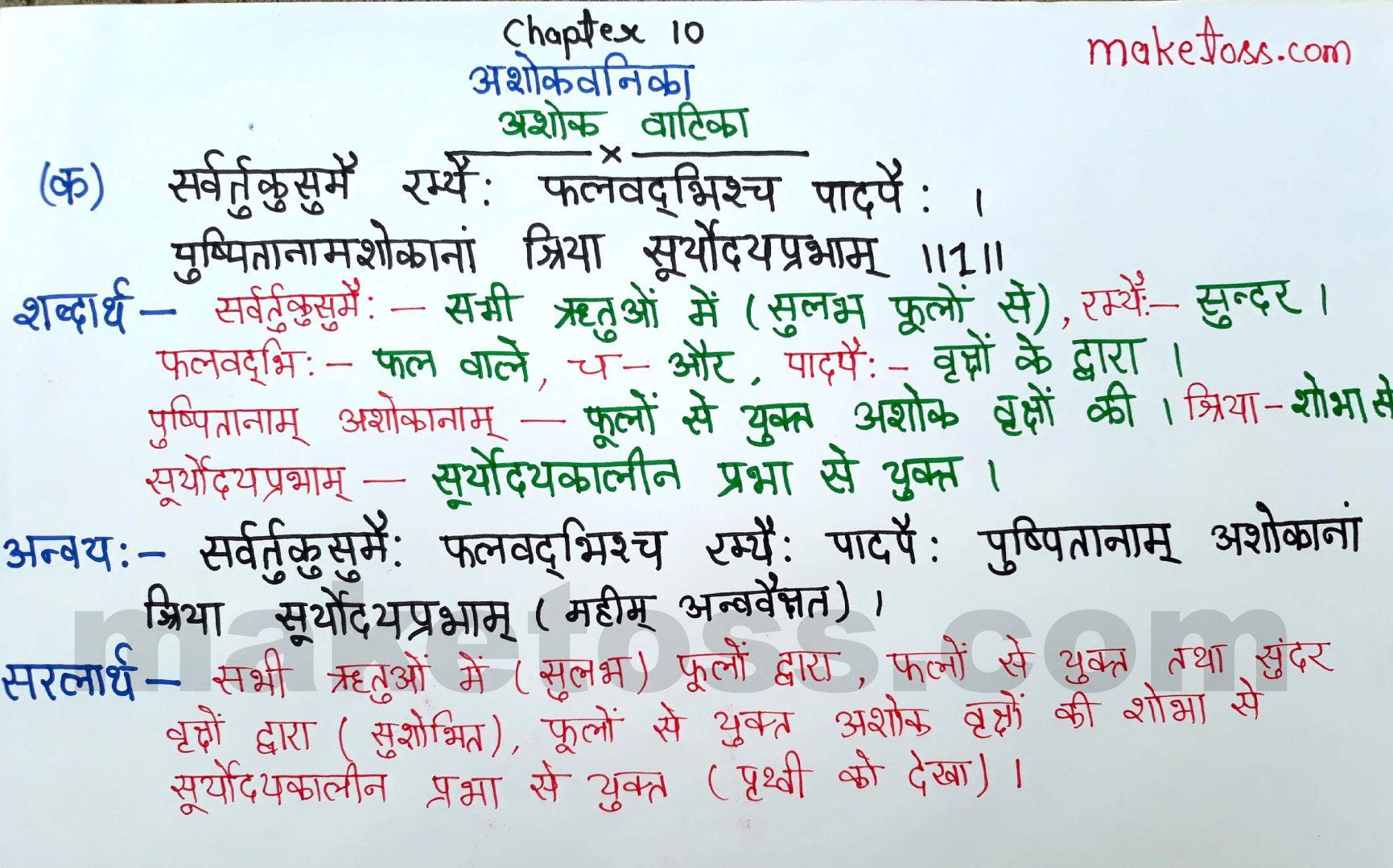 Sanskrit class 8 chapter 10