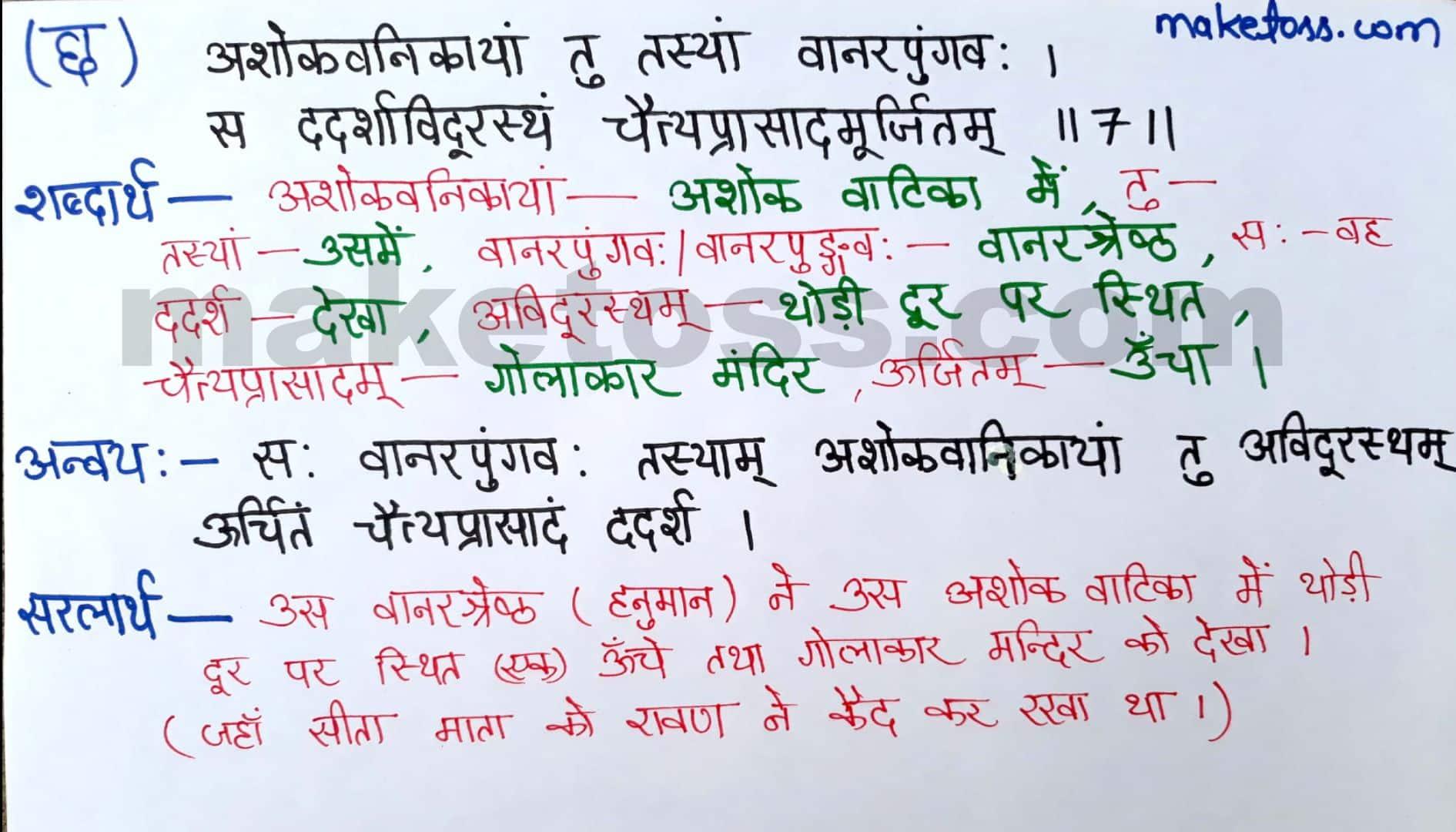 Sanskrit class 8 chapter 10-अशोकवनिका