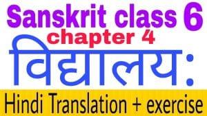 Class 6 Sanskrit chapter 4 - NCERT Exercise solution,Hindi translation,Videos,etc