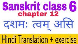 Class 6 Sanskrit chapter 12 - NCERT Exercise solution,Hindi translation,Videos,etc