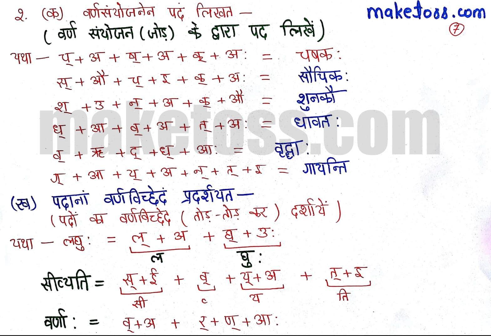 Sanskrit Class 6 chapter 1 - शब्दपरिचय 1 - translation in Hindi