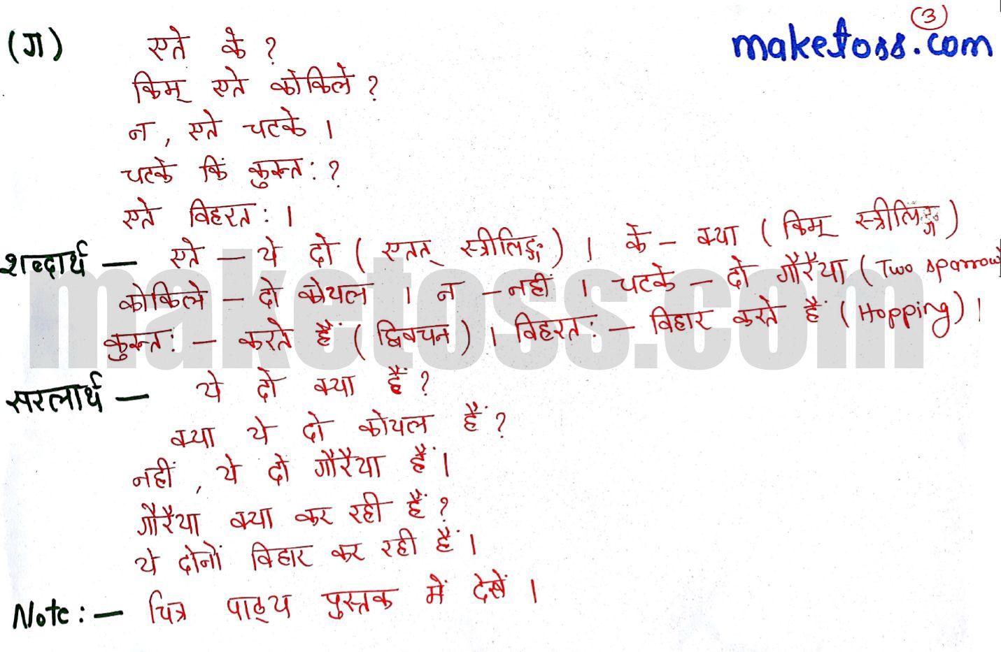 Class 6 Sanskrit chapter 2 - शब्दपरिचय 2