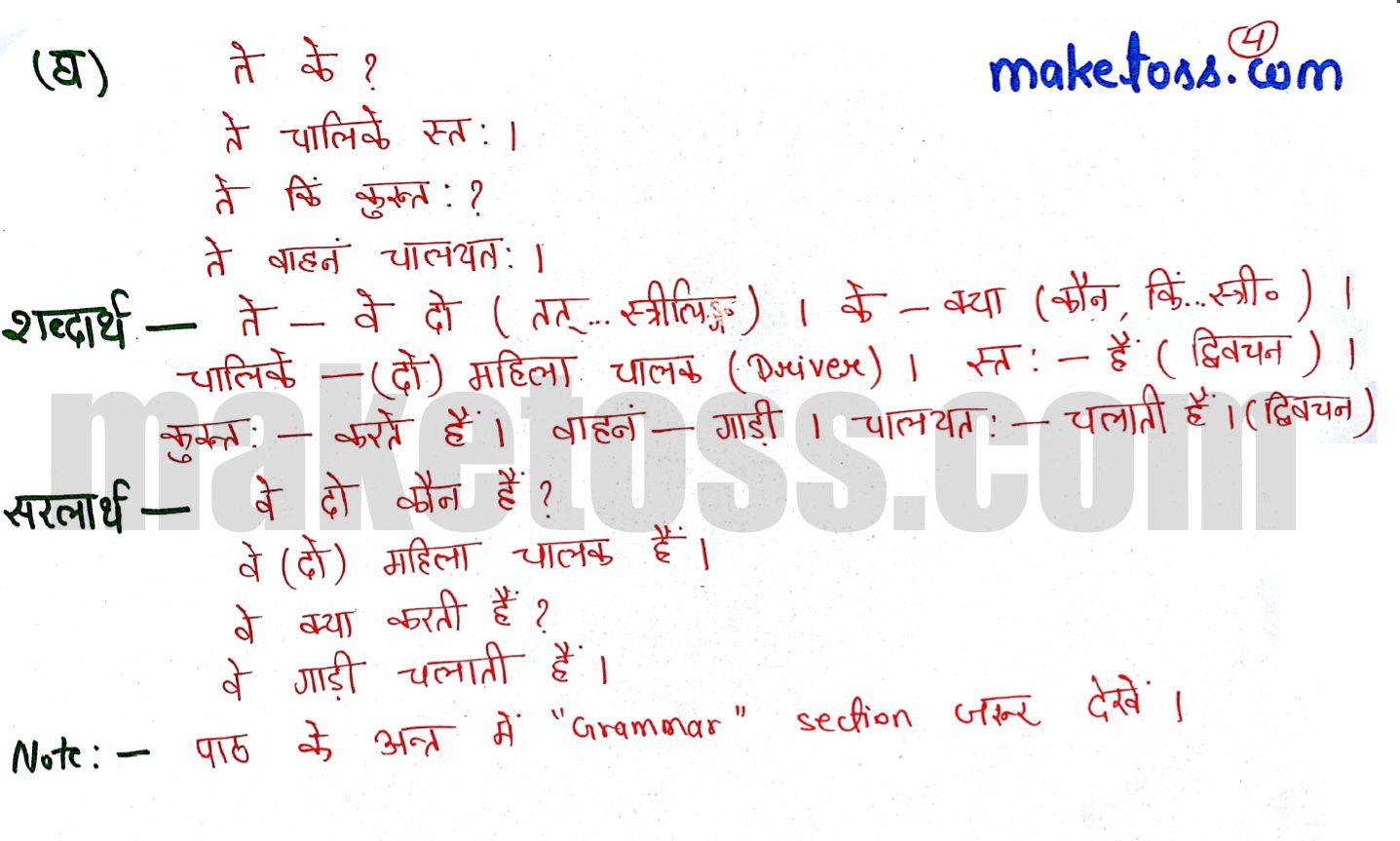 Class 6 Sanskrit chapter 2 - शब्दपरिचय 2 - ranslation in Hindi