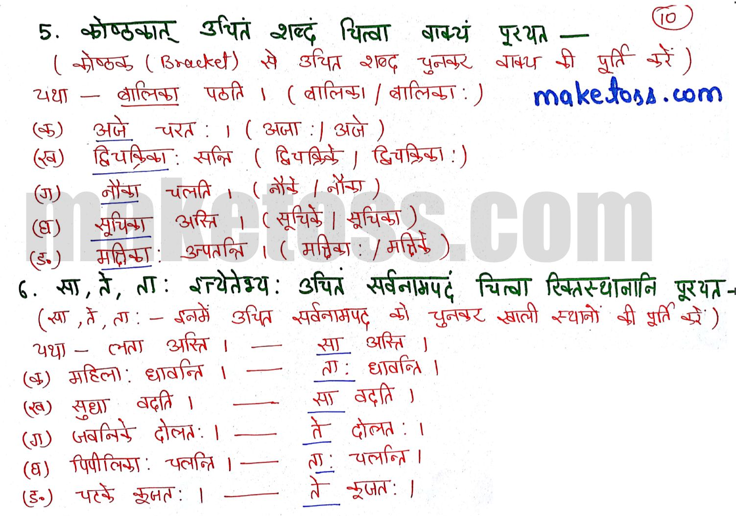 Class 6 sanskrit chapter 2