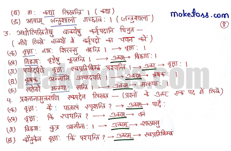 Sanskrit Class 6 chapter 5 वृक्षाः