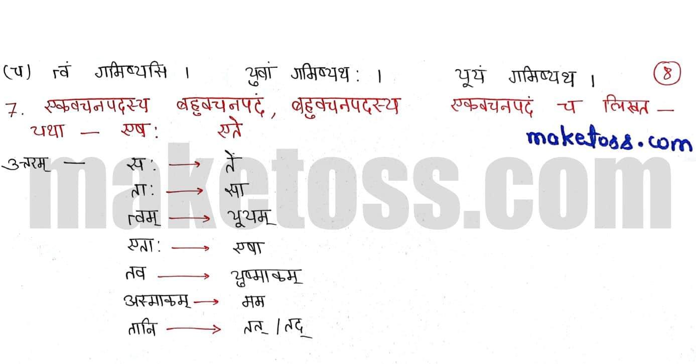 Sanskrit class 6 chapter 9 क्रीडास्पर्धा - Ncert solution