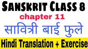 Sanskrit class 8 chapter 11