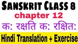 Sanskrit class 8 chapter 12