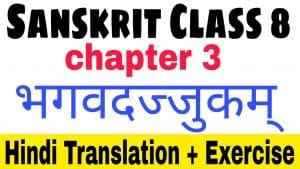 Sanskrit class 8 chapter 3