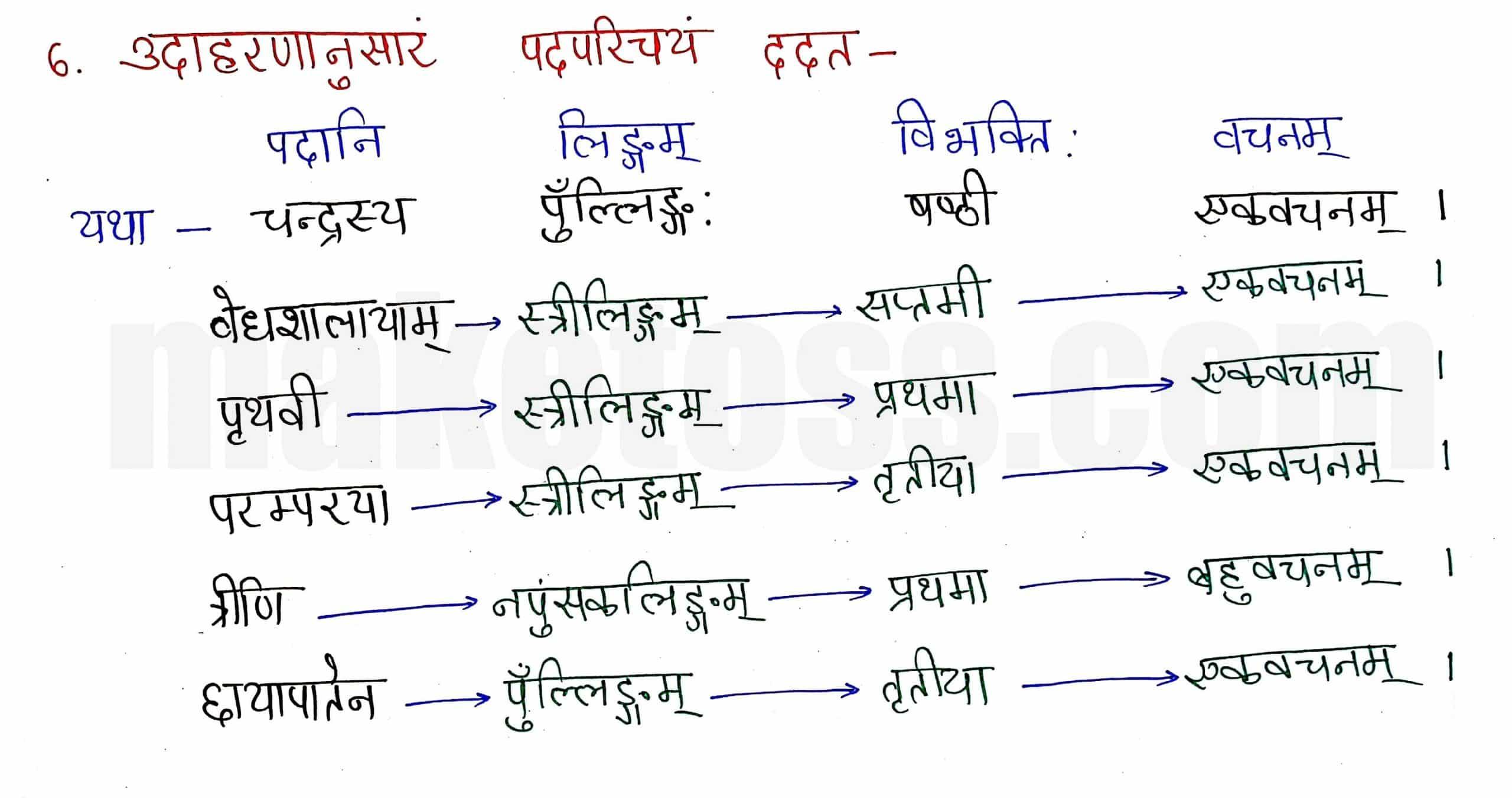 Sanskrit class 8 chapter 14-आर्यभटः-page 5 -Hindi Translation + Exercise