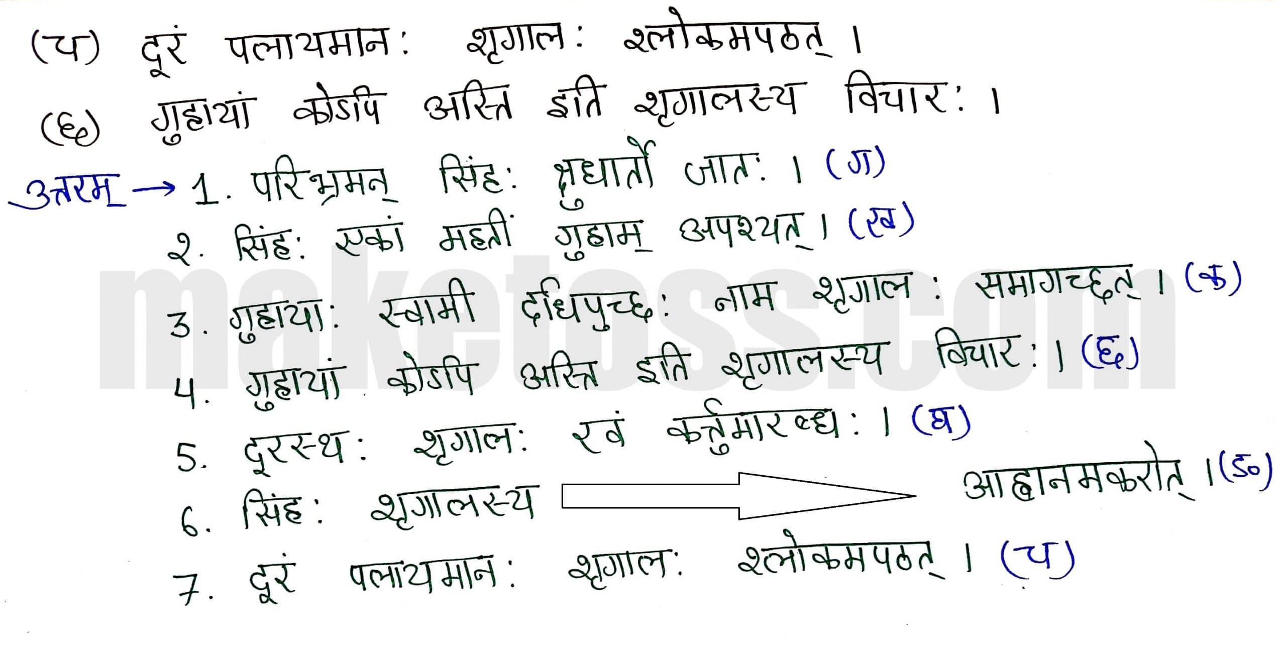 Sanskrit Class 8-Chapter 2-बिलस्य वाणी न कदापि मे श्रुता-page 5