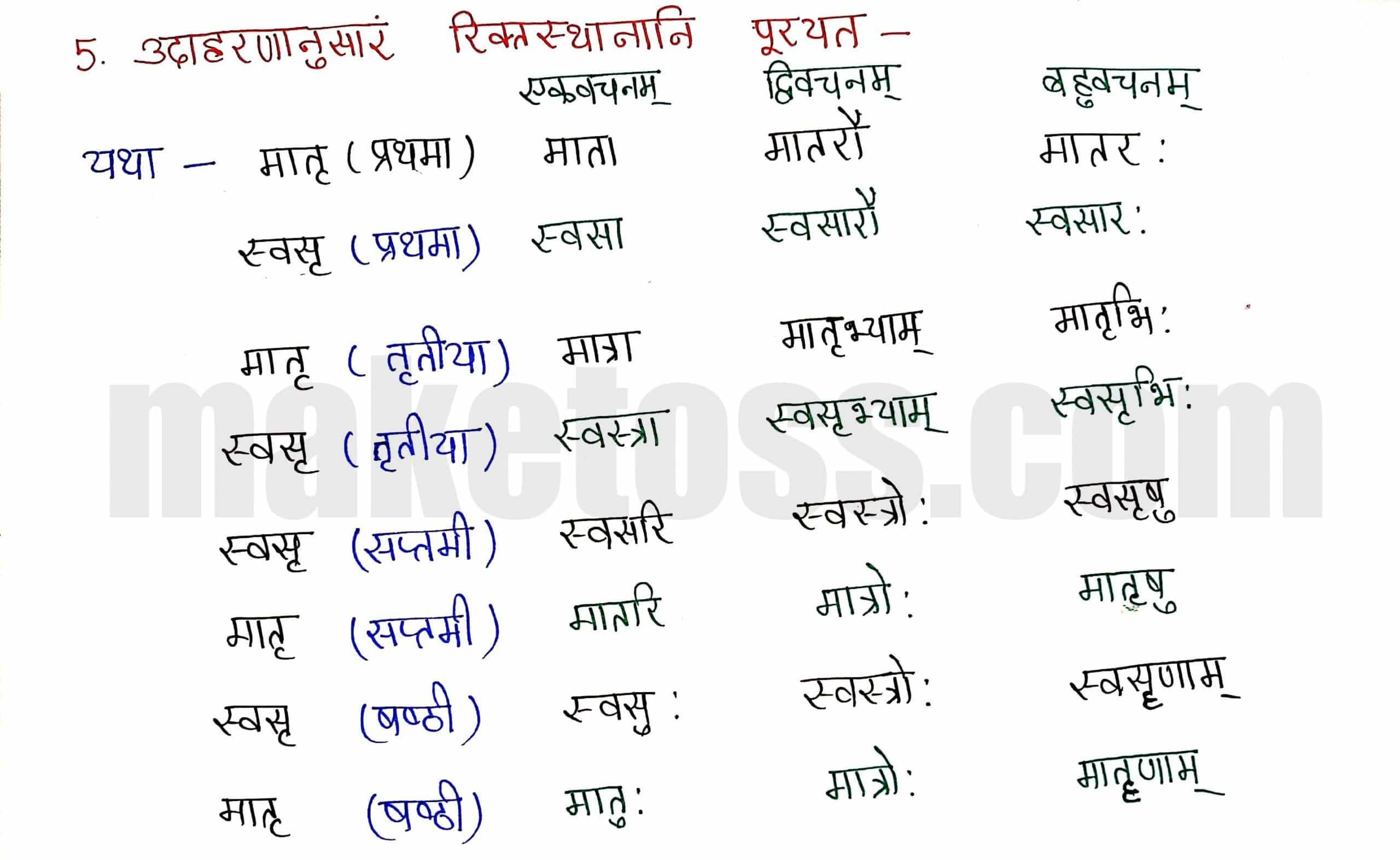 Sanskrit Class 8-chapter 5-धर्मे धमनं पापे पुण्यम् -page 4