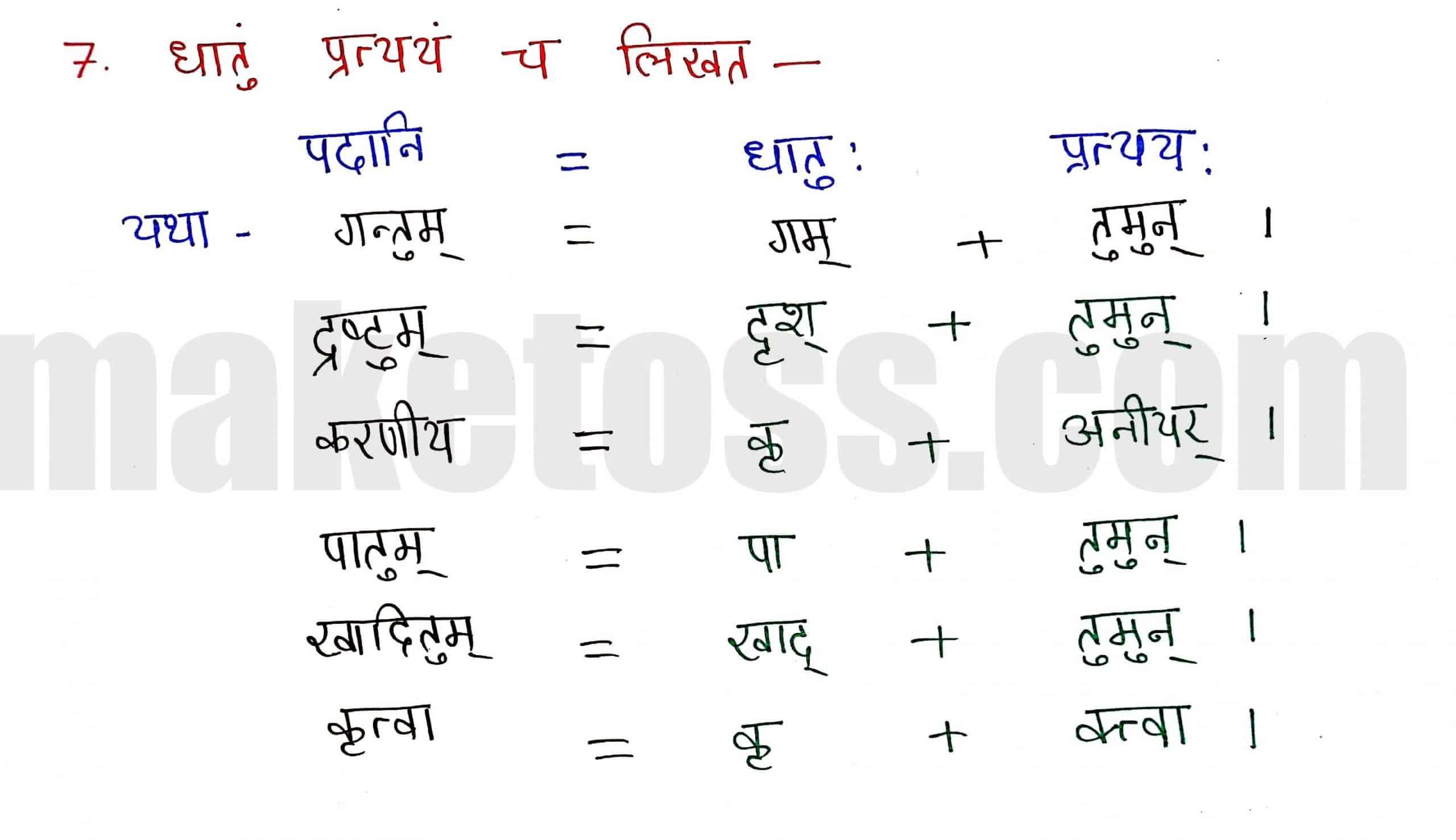 Sanskrit Class 8-chapter 5-धर्मे धमनं पापे पुण्यम् -page 6