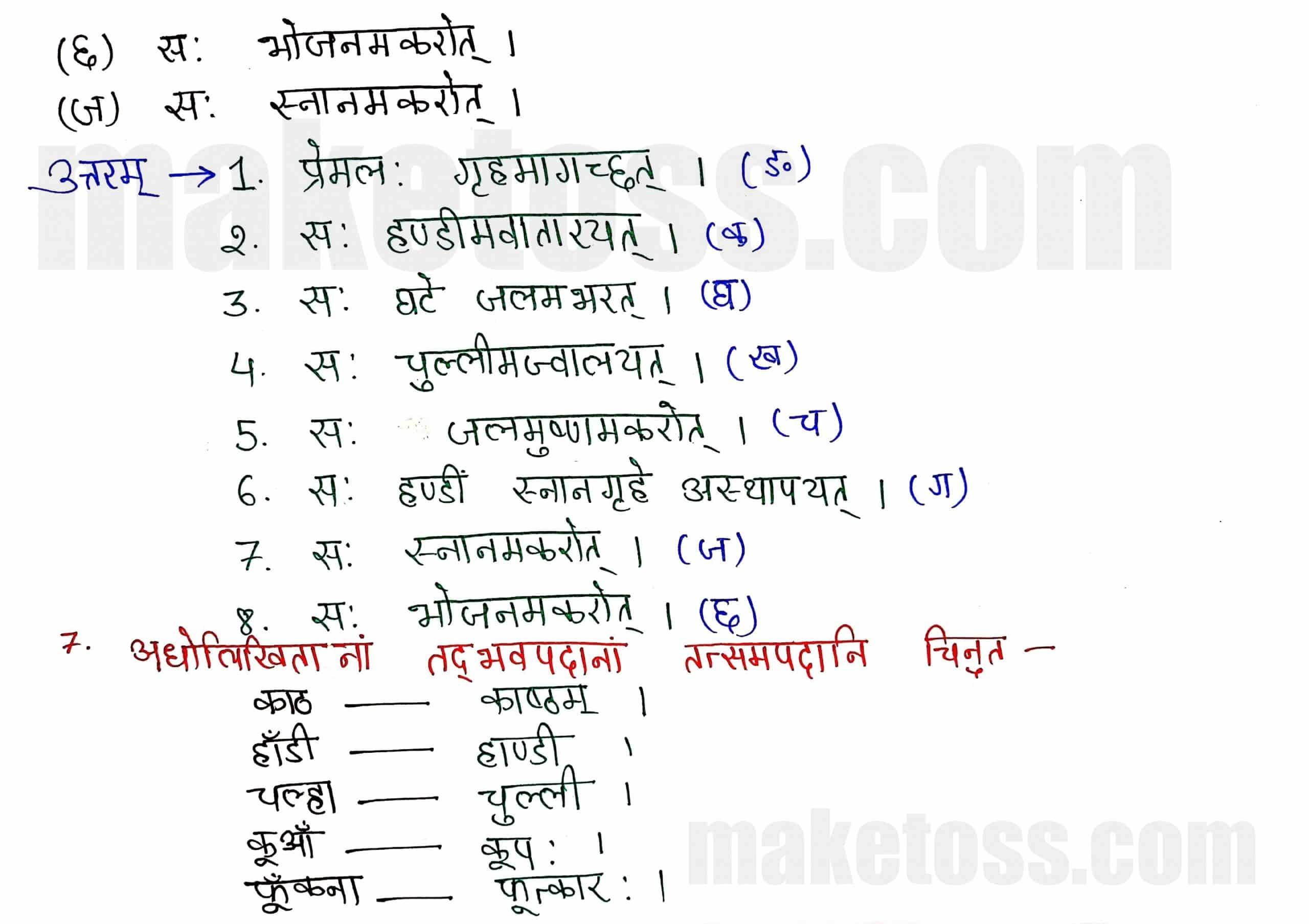 Class 8 Sanskrit chapter 6-प्रेमलस्य प्रेमल्याश्च कथा-page 6