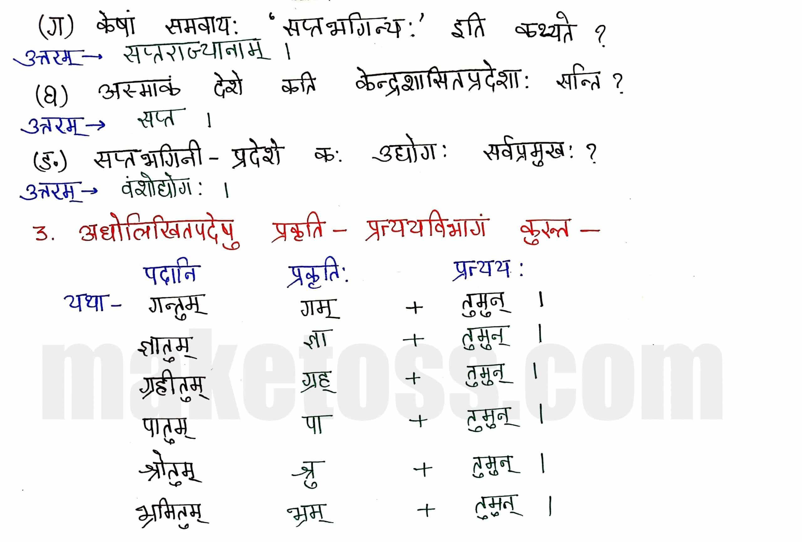 Sanskrit class 8 chapter 9-सप्तभगिन्यः page 2