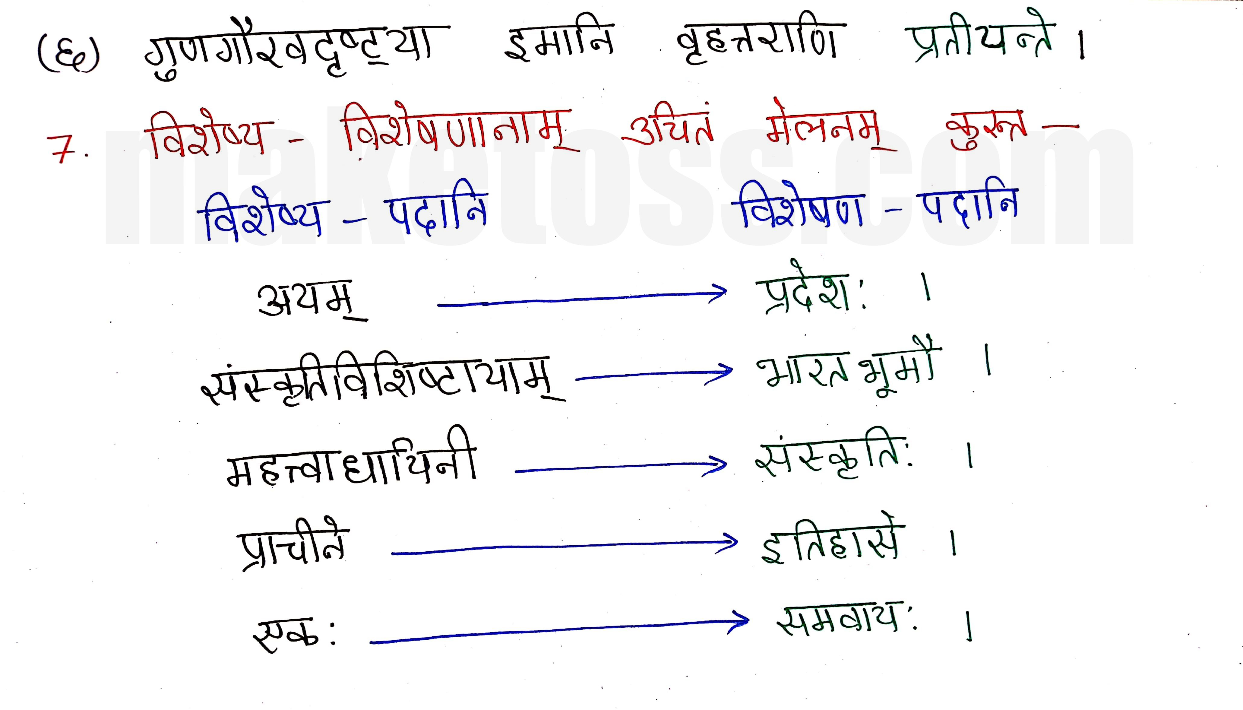 Sanskrit class 8 chapter 9-सप्तभगिन्यः page 5