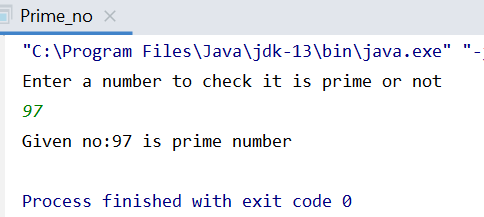 Java program to check prime number