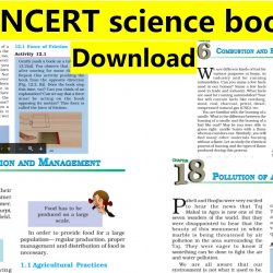 Class 8 NCERT science book PDF download - All chapters in English medium