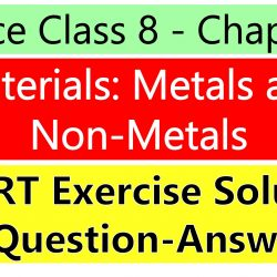 Science Class 8 - Chapter 4 - Materials Metals and Non-Metals - NCERT Exercise Solution ( Question-Answer)