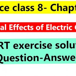 Science class 8- Chapter 14- Chemical Effects of Electric Current- NCERT exercise solution (Question-Answer)