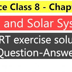 Science class 8- Chapter 17- Stars and Solar System-Ncert Exercise Solution