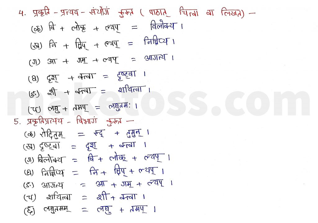 Sanskrit Class 9- Chapter 2- स्वर्णकाकः - Question 4 and Question 5 with Answer