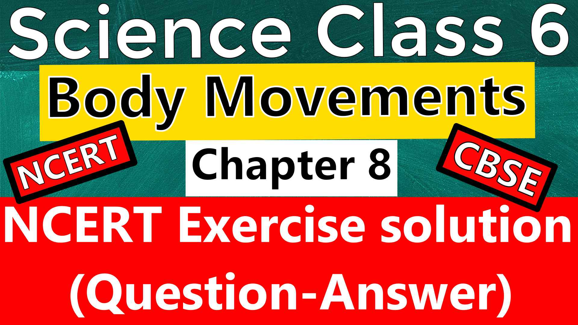 Science Class 6 - Chapter 8 - Body Movements - NCERT Exercise Solution